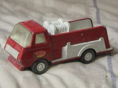 A Junkee Shoppe Junk Market Stop: TONKA Red Fire Truck Pressed Steel Toy Vehicle ... For Sale Click Link Here To View >>>> http://ajunkeeshoppe.blogspot.com/2015/12/tonka-red-fire-truck-pressed-steel-toy.html