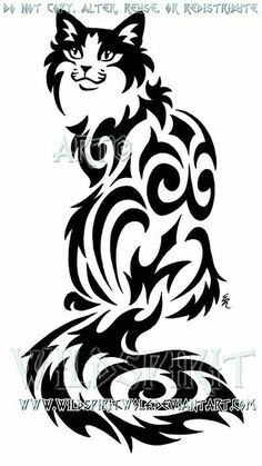 931884157fd39 Scroll Saw Patterns, Tribal Tattoos, Cat Tattoos, Tiger Silhouette,  Silhouette Chat,