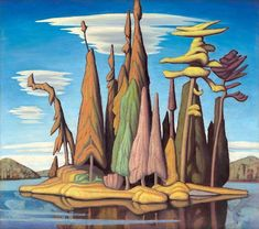 Lawren Harris Northern Island II, Group of Seven Tom Thomson, Emily Carr, Group Of Seven Artists, Group Of Seven Paintings, Canadian Painters, Canadian Artists, Landscape Art, Landscape Paintings, Landscapes