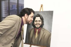 Despite the diverse and heavy responsibilities of an International Global Worldwide Head of Headhunting, Ignacio still finds time for his passions. Like painting. This is one of his favorite self-portraits. http://www.3hourjobhunt.com/