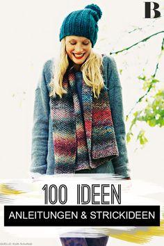 Stricken: 100 Strickideen mit Anleitungen und Strickmuster. Wir lieben Stricken! Und deswegen haben wir 100 unserer schönsten Strickideen gesammelt. Mit dabei: Mützen, Schals, Pullis und mehr für Kinder und Erwachsene. #stricken #strickmuster #diy #anleitungen Trends, Knits, Winter Hats, Crochet Hats, Knitting, Inspiration, Outfits, Fashion, Knitting Paterns