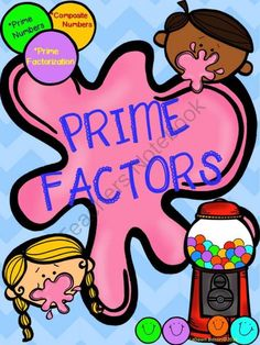 Prime Factors: Prime Numbers, Composite Numbers, and Prime Factorization from Math From My Angle on TeachersNotebook.com - (17 pages) - This file contains printables, anchor charts, and information for prime numbers, composite numbers, and finding the prime factorization of numbers.