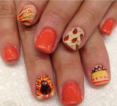 42 Best Turkey Nail Art Images On Pinterest Autumn Nails Beauty