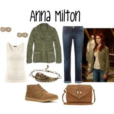 """Anna Milton"" by evil-laugh on Polyvore Halloween Outfits, Fall Outfits, Casual Outfits, Cute Outfits, Supernatural Cosplay, Supernatural Clothes, Anna Milton, Supernatural Inspired Outfits, Basic White Girl"