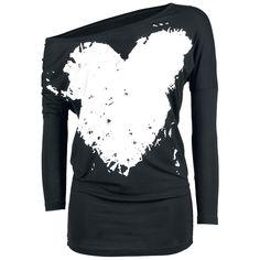2017 Spring Summer Cotton T-shirt Women Tops Tee Print Heart-shaped T Shirt Loose Long Sleeve Tops #Affiliate