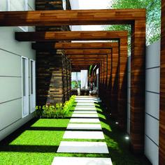 Inspirational pergola door ideas you'll love Modern Backyard, Backyard Patio Designs, Pergola Designs, Side Yard Landscaping, Outdoor Pergola, Cheap Pergola, Pergola Kits, Backyard Pergola, Pergola Plans