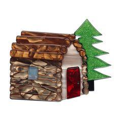 Cabin in the Woods Brooch by Erstwilder