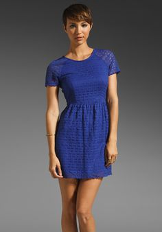 FREE PEOPLE Candy Woven Lace Dress in Electric Cobalt at Revolve Clothing - Free Shipping!
