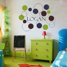 Boys Dots and Circles Wall Decal