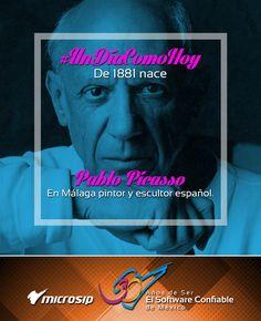 #UnDíaComoHoy 25 de octubre pero de 1881 nace en Málaga Pablo Picasso, pintor y escultor español.