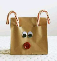 Cute goodie bags for simple children surprises or maybe co-worker lunches or treats!