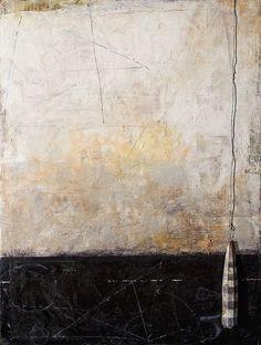 """""""Borderline""""    Encaustic painting on wood panel by Graceann Warn.:"""