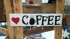 Love coffee pallet sign