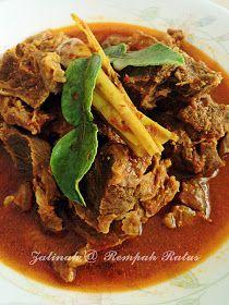 Malay Food, Malaysian Food, Padang, Indonesian Food, Quick Snacks, Food And Drink, Cooking Recipes, Beef, Asian
