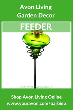 Avon Living Flutter Collection Hummingbird Feeder - Decorate your garden this summer with this hummingbird feeder. Regularly $16.99 Buy Avon Living Garden and Outdoor Décor at https://barbieb.avonrepresentative.com