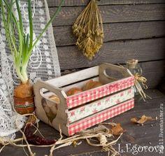 """Ящик """"ПРОСТЫЕ МОТИВЫ"""" - ящик для овощей,ящик для хранения,Декупаж,деревенский стиль"""