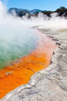 For Real: These Insanely Stunning Hot Springs Are Not Photoshopped - Ilka Matryona - For Real: These Insanely Stunning Hot Springs Are Not Photoshopped We Can't Believe These 16 Incredible Hot Springs Are Real - Rotorua New Zealand, Places To Travel, Places To Visit, Travel Tours, Travel Ideas, Adventure Is Out There, Travel Abroad, Thailand Travel, Natural Wonders