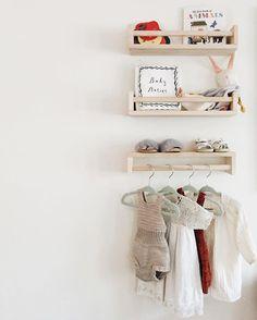 Adorable hanging clothes // nursery decor ideas