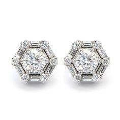 Fancy Yellow Diamond Studs with Diamond Halo   Wixon Jewelers