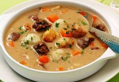 Nyírség potato dumpling soup - My Shop Soup Recipes, Cooking Recipes, Dumplings For Soup, Veggie Soup, Hungarian Recipes, Breakfast Time, No Cook Meals, Street Food, Food Hacks