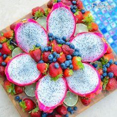 Pitaya and berries