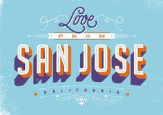 Love from San Jose, California | Urlaubsgrüße | Echte Postkarten online…
