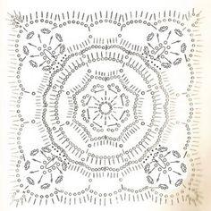 схема квадратного мотива крючком