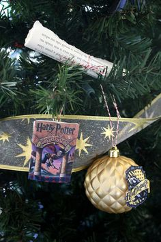 Spread these Harry Potter ornaments throughout the tree.