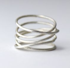 SIlver Wrap Ring, featured now at PinkLion.com (also available in gold). #rings