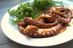 szczypta smaQ: Ośmiornica marynowana w oliwie