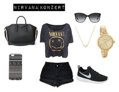 """""""Nirvana Concert"""" by itsjuliexx on Polyvore featuring Mode, CO, Levi's, NIKE, Givenchy, With Love From CA, Bulgari, Stella & Bow, Marc by Marc Jacobs und women's clothing"""