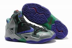 """Terracotta Warrior"" LeBron 11 Stone / Purple - Teal - Red Nike Mens Shoes"