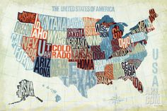 USA Modern Blue Art Print by Michael Mullan. Save up to 40% for a limited time at Art.com.