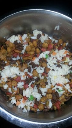 My dogs love this mixed with their food. White rice, peas, corn, carrots,  grilled hot dog and WunderRub's Bold & Lively. Follow WunderRub on Facebook.