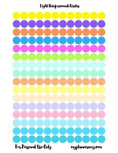 """Light 1/2"""" Reinforcement Circles for your ring bound planners."""