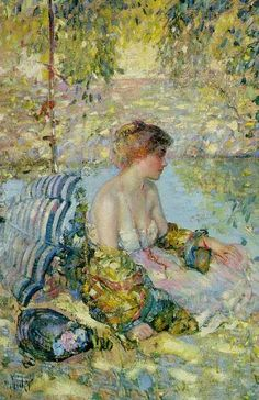 Oil Painting by American Impressionist Artist Richard Emil Miller American Impressionism, Post Impressionism, Impressionist Paintings, History Of Wine, Art History, Paul Cezanne, Amédéo Modigliani, Art Et Nature, Joan Mitchell