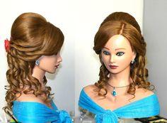 Prom, bridal hairstyle for long hair. Вечерняя прическа, прическа на вып...