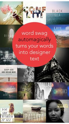 Word Swag - Cool fonts, typography generator, creative quotes, and text over pic editor! de Oringe Photo & Fonts Caption Co.