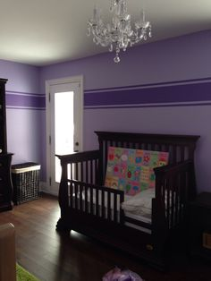 The Princess wanted a purple room so she got Lilac with a set of Purple Passion stripes.