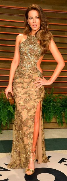 Kate Beckinsale na festa pós Oscar da Vanity Fair (03/03/14)