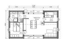 Bilderesultater for rindalshytter lysthus Floor Plans, Diagram, Floor Plan Drawing, House Floor Plans