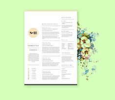 simple resume template with cover letter cv design in by landedco