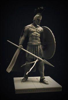 Spartan Warrior, Stephen Clark on ArtStation at https://www.artstation.com/artwork/rW46J