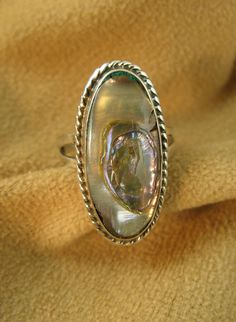 Silver Taxco Eagle Abalone Ring by TaxcoandMore on Etsy, $24.00