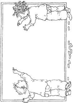 coloring page Dagmar Stam - Dagmar Stam Frame Border Design, Page Borders Design, Borders For Paper, Borders And Frames, Kindergarten Portfolio, Doodle Frames, Powerpoint Background Design, School Clipart, Cool Coloring Pages