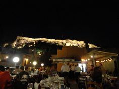 Athens by night under the moonlight with the beautifully lit #Acropolis  #Acropolis #CivitelHotels #Athens