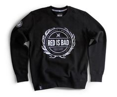 Bluza z emblematem Red is Bad - czarna