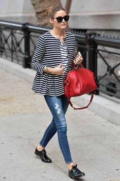 stripes and red bag