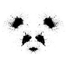 Roshach Panda Art Print