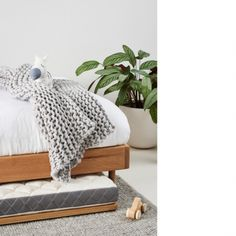 A clever and stylish solution for sleepovers, our Sleek Trundle is made in our Melbourne workshop to go with our Mubu and Lou Bed Bases Single Bed Base, King Single Bed, Timber Furniture, Furniture Design, Custom Mattress, Timber Beds, Bed Price, White Oak Wood, Extra Bed